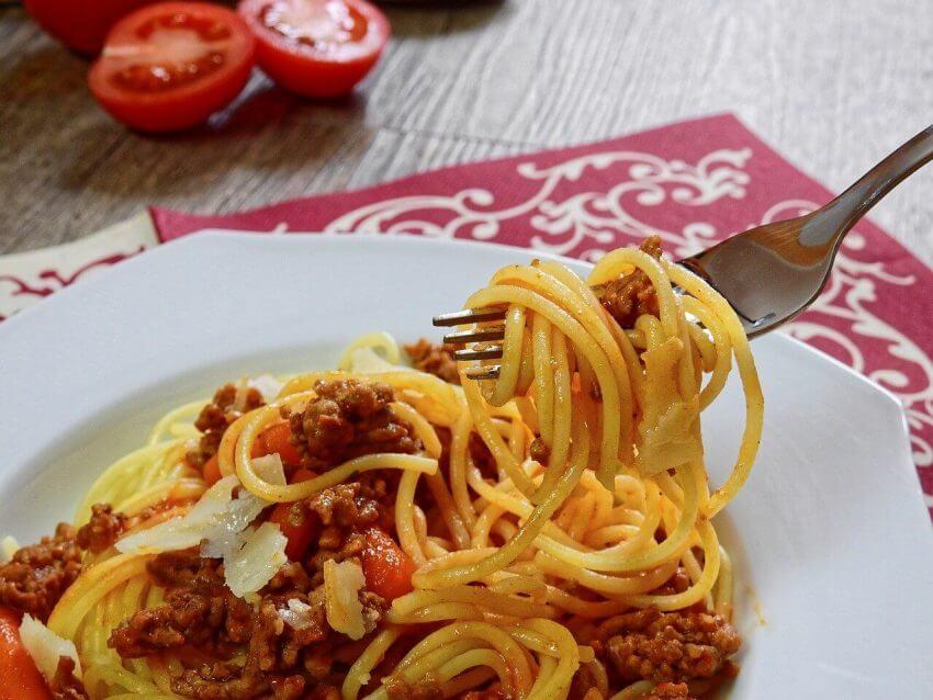 """Quorn, växtbaserat kött, funkar utmärkt med """"spagetti med köttfärssås"""""""