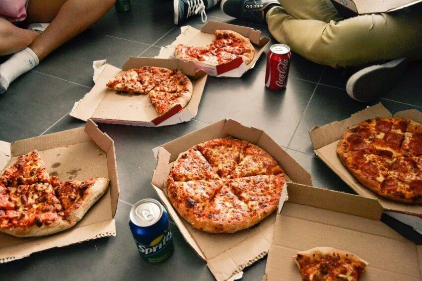 pizza för hemkörning